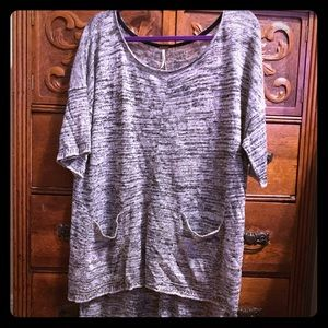 NWOT Free People Linen Tunic Sweater